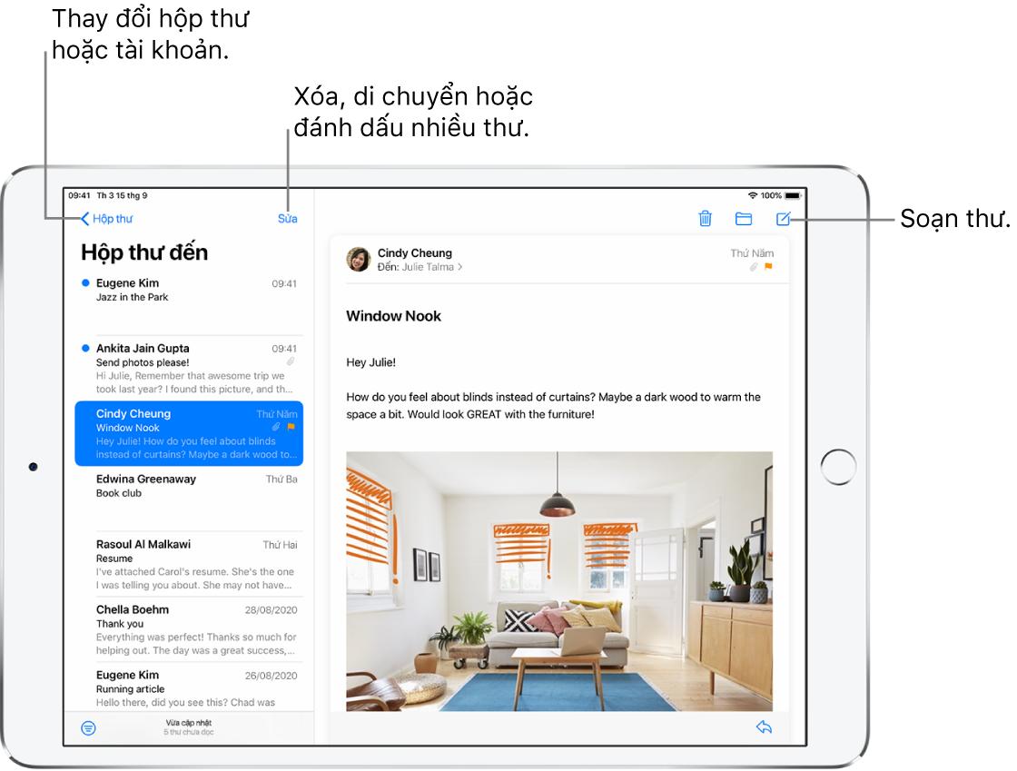 Soạn email trong Mail trên iPad - Apple Hỗ trợ